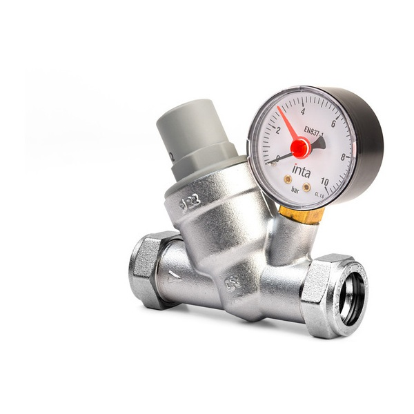 Intatec Pressure Reducing Valves 15mm With Gauge & Filter