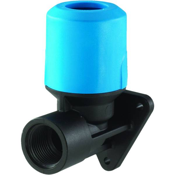 "JG Speedfit Blue Back Plate Elbow 20mm X 1/2"" Bsp"