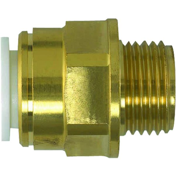 "JG Speedfit Brass Male Coupler 15mm 1/2"" bsp"