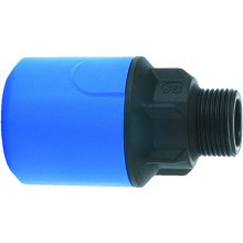 "JG Speedfit Blue Male Adaptor 25mm X 3/4"" Bsp"