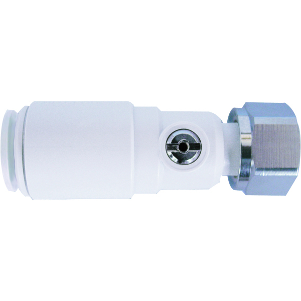 "JG Speedfit Plastic Service Valve with Tap Connector 15mm x 1/2"" white"