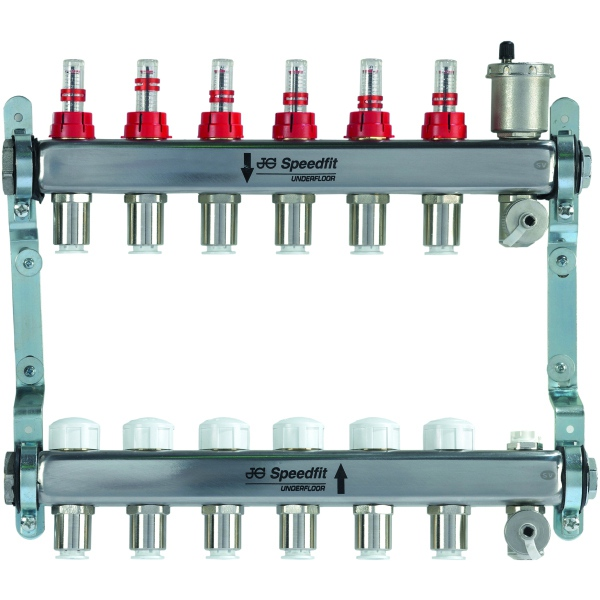 JG Speedfit Stainless Steel Manifold 10 Zone