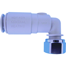 John Guest Speedfit Angled Service Valve with Tap Connector 15mm x 1/2""