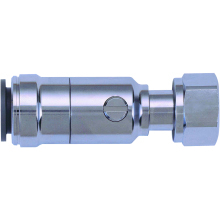 JG Speedfit Brass Chrome Plated Service Valve with Tap Connector 5mm x 1/2""