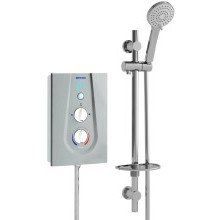 Joy Thermostatic 8.5Kw Electric Shower Metallic Silver