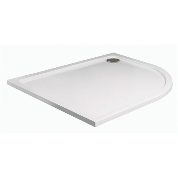 JT40 Fusion 1200mm x 800mm Offset Quadrant Shower Tray - Right Hand