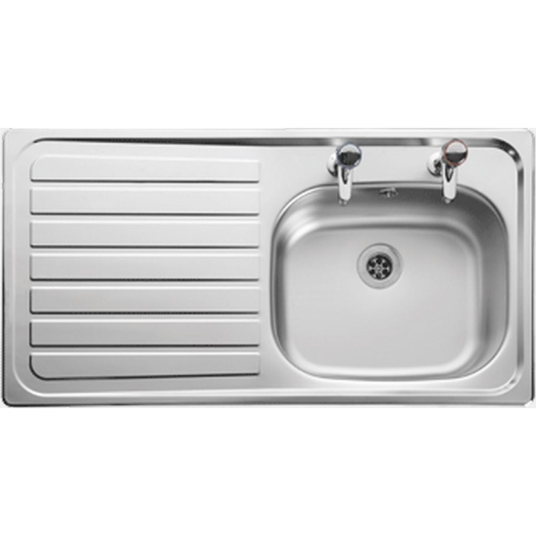 Leisure Lexin 950 x 508 Drainer Inset Sink 2 Tap Hole Left Hand
