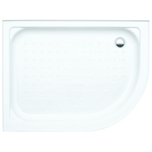 Coram Quadrant Shower Tray Offset 1200mm White Left Handed