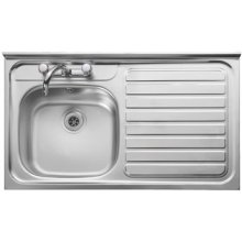 kitchen sink top view. leisure 1000mm x 600mm stainless steel r/front top right hand kitchen sink view