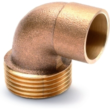 "Male Taper Elbow 22mm X 3/4"" Bronze"