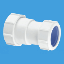 "McAlpine 1 1/2"" Multifit Straight Connector x 40mm Euro pipe size"