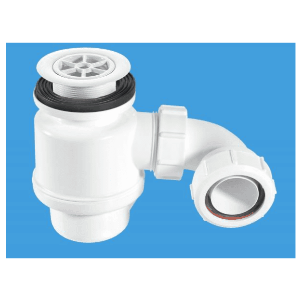 "McAlpine 1 1/2"" x 50mm Seal Resealing Shower Trap - 70mm CP Plastic Flange"