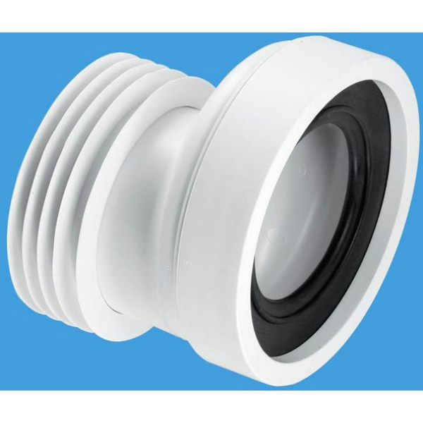 McAlpine 20mm Offset Rigid Pan Connector 110mm White