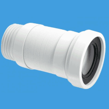 "McAlpine 3 1/2""/90mm Flexible WC Connector (Medium Length)"