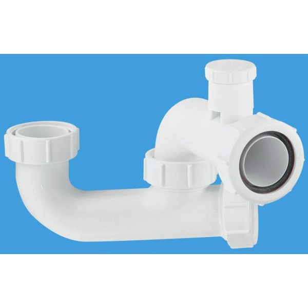 "McAlpine Anti-Syphon Bath Trap with Cleaning Eye 1 1/2"" x 50mm"