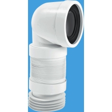 McAlpine Flexible Pan Connector 110mm x 90 Degrees White