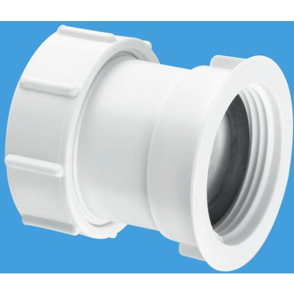 McAlpine Multifit x BSP Female Straight Connector 40mm x 32mm White