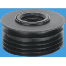 McAlpine Ring Sealed Drain Connector 110mm to fit 32mm & 40mm Waste Pipe Black