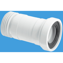 McAlpine Straight Pan Connector 110mm Flexible Extending 170-410mm White