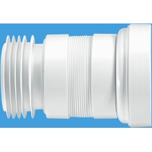 McAlpine Straight Pan Connector 110mm Flexible Extending 100-160mm White