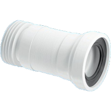 McAlpine Straight Pan Connector 110mm Flexible Extending 140-310mm White