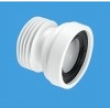 McAlpine Straight Rigid Pan Connector 110mm White
