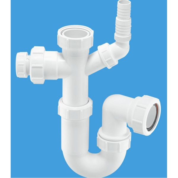 McAlpine Tubular Swivel Sink Trap with Multifit Water Seal