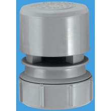 "McAlpine Ventapipe 25 Air Admittance Valve with 1 1/2"" Universal Outlet Grey"