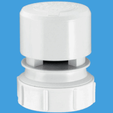 "McAlpine Ventapipe 25 Air Admittance Valve with 1 1/2"" Universal Outlet (White)"