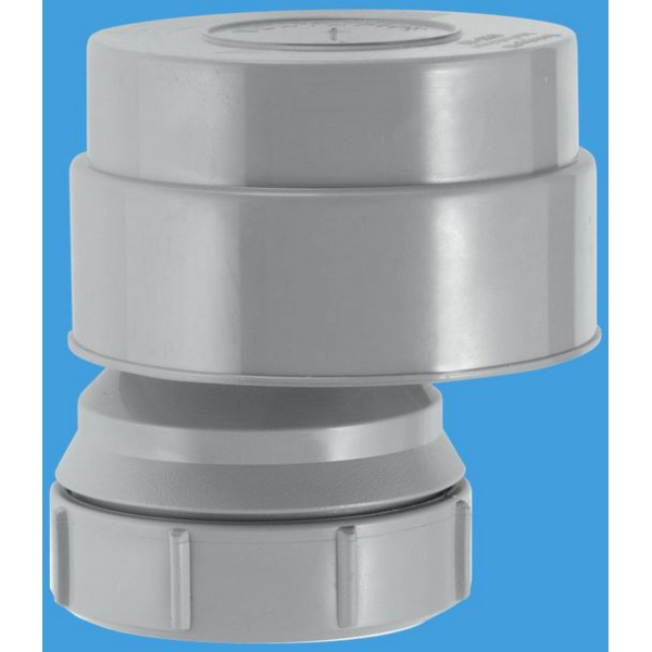 McAlpine Ventapipe 50 Air Admittance Valve with 50mm Universal Outlet Grey