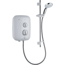 Mira Elite QT Pumped Electric Shower - White/Chrome