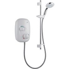 Mira Event XS Manual Power Shower White/Chrome