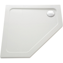 Mira Flight 1200mm x 900mm Low Level Pentagon Shower Tray - Right Hand - White