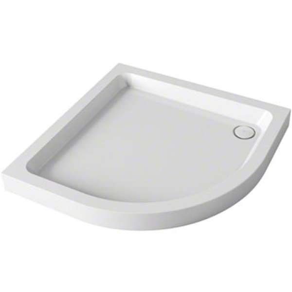 Mira Flight  800mm x 800mm Quadrant Shower Tray - 2 Upstands - White