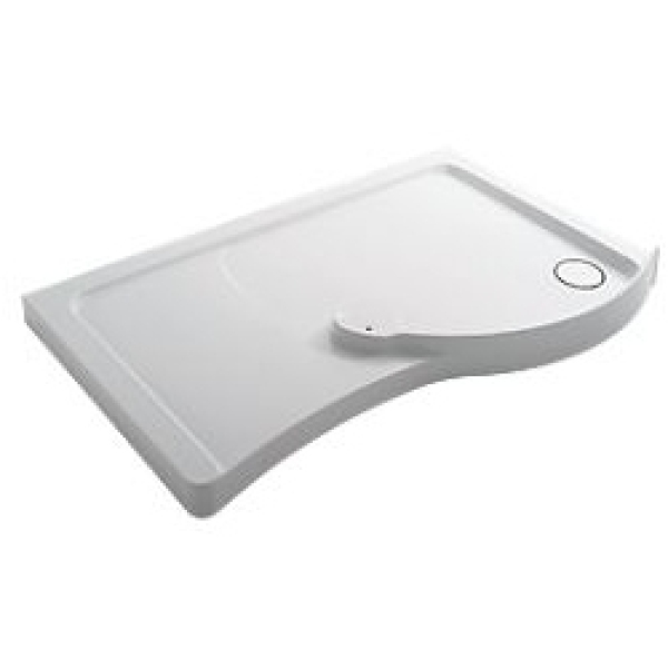Mira Flight 1700mm x 700mm Low Level Walk-In Shower Tray - Right Hand