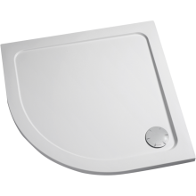 Mira Flight 900mm x 900mm Quadrant Low Shower Tray - White