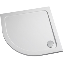 Mira Flight 1000mm x 800mm Low Shower Tray - White - Right Hand