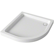 Mira Flight 900mm x 900mm Quadrant Shower Tray - 2 Upstands - White