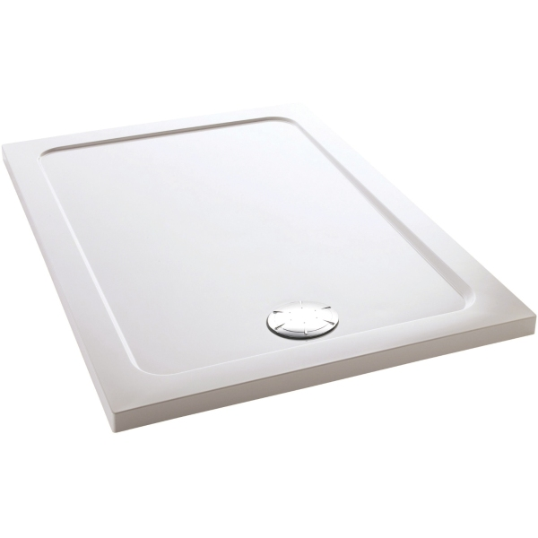 Mira Flight 1200mm x 800mm Low Level Rectangle Shower Tray - White
