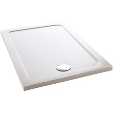 Mira Flight 900mm x 760mm Low Level Rectangle Shower Tray - White