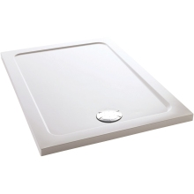 Mira Flight 1400mm x 800mm Low Level Rectangle Shower Tray - White
