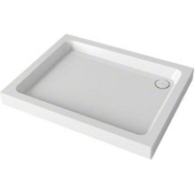 Mira Flight 900mm x 760mm Rectangle Shower Tray - 4 Upstands - White
