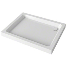 Mira Flight 900mm x 760mm Rectangle Shower Tray - 3 Upstands - White