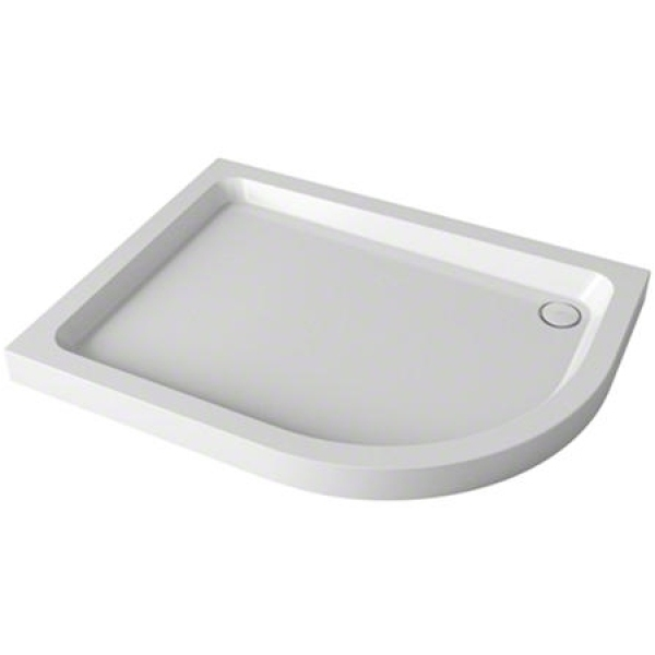 Mira Flight Safe 1000mm x 800mm Offset Quadrant Shower Tray - 0 Upstands - Right Hand