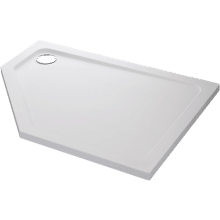 Mira Flight Safe 1200mm x 900mm Low Level Pentagon Shower Tray - Left Hand - 0 Upstands