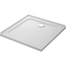 Mira Flight Safe 800mm x 800mm Low Level Square Shower Tray - 2 Upstands