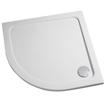 Mira Flight Safe 1000mm x 1000mm Quadrant Low Level Shower Tray - 0 Upstands