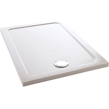 Mira Flight Safe 1000mm x 800mm Low Level Rectangle Shower Tray - Anti-Slip