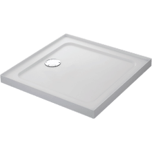 Mira Flight Safe 800mm x 800mm Low Level Square Shower Tray - 4 Upstands
