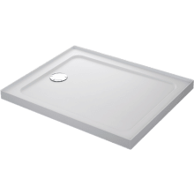Mira Flight Safe 1000mm x 800mm Low Level Rectangle Shower Tray - 4 Upstands